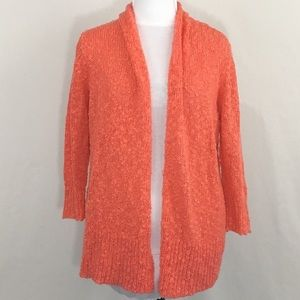 Fever Coral Bumpy Knit Cardigan Size M